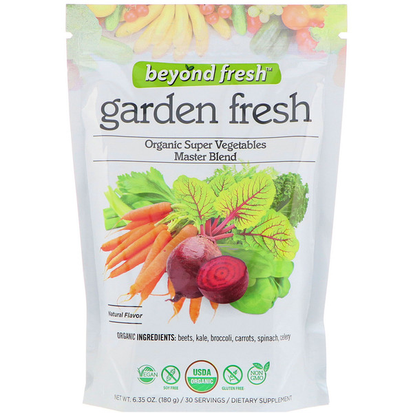 Garden Fresh, Organic Super Vegetables Master Blend, Natural Flavor, 6.35 oz (180 g)