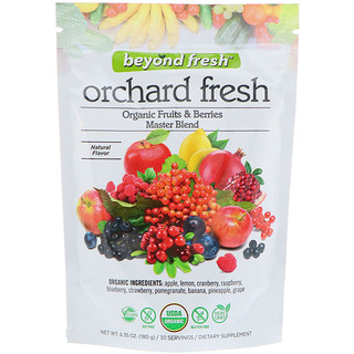 Beyond Fresh, Orchard Fresh, Organic Fruits & Berries Master Blend, Natural Flavor, 6.35 oz (180 g)