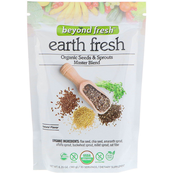 Beyond Fresh, Earth Fresh, Organic Seeds & Sprouts Master Blend, Natural Flavor, 6.35 oz (180 g) (Discontinued Item)