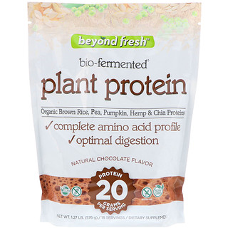 Beyond Fresh, Plant Protein, Natural Chocolate Flavor, 1.27 lb (576 g)