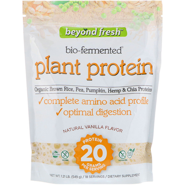 Beyond Fresh, Plant Protein, Natural Vanilla Flavor, 1.21 lb (549 g) (Discontinued Item)