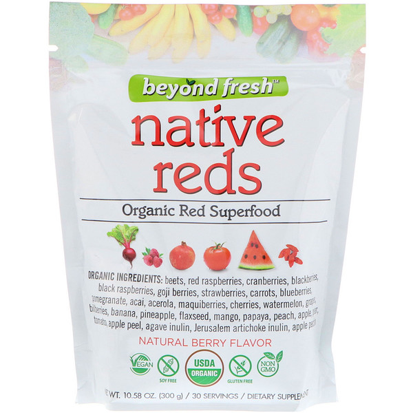 Native Reds, Organic Red Superfood, Natural Berry Flavor, 10.58 oz (300 g)