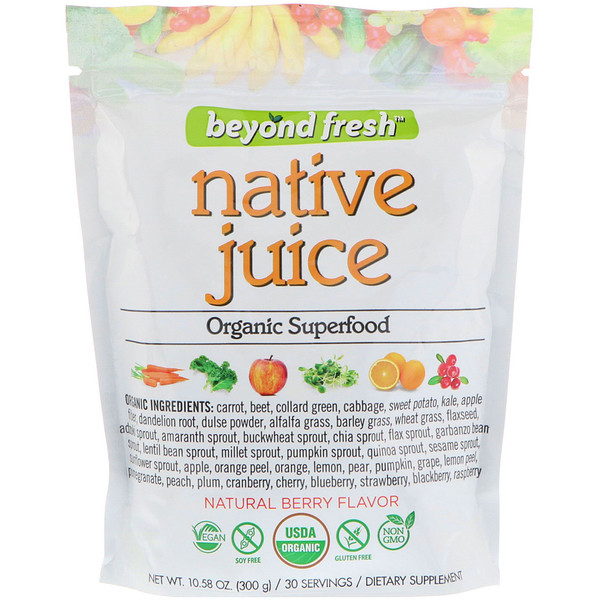 Native Juice, Organic Superfood, Natural Berry Flavor, 10.58 oz (300 g)