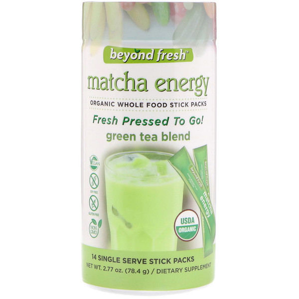 Beyond Fresh, Matcha Energy, Green Tea Blend, 14 Single Serve Stick Packs