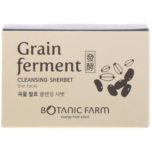 Botanic Farm, Grain Ferment Cleansing Sherbet for Face, 100 ml (Discontinued Item)