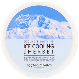 Botanic Farm, Ice Cooling Sherbet Facial Cream, 100 g