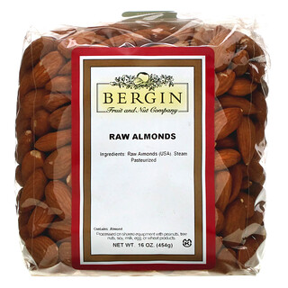 Bergin Fruit and Nut Company, Raw Almonds, 16 oz (454 g)