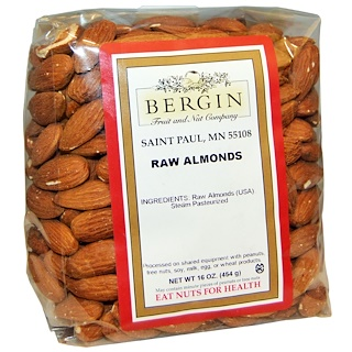 Bergin Fruit and Nut Company, Almendras Crudas, 16 oz (454 g)