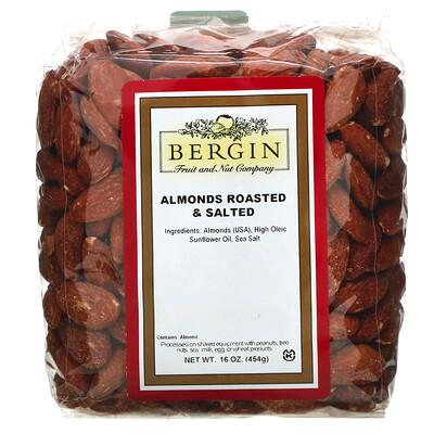 Купить Обжаренный соленый миндаль, 16 унций (454 г)