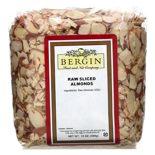 Bergin Fruit and Nut Company, Raw Sliced Almonds, 12 oz (340 g)