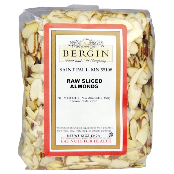 Bergin Fruit and Nut Company, Raw Sliced Almonds, 12 oz (340 g)