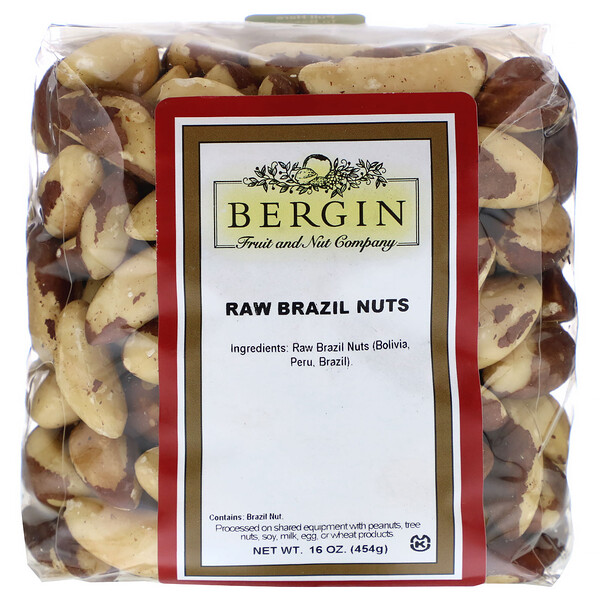 Bergin Fruit and Nut Company, Raw Brazil Nuts, 16 oz (454 g)