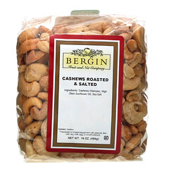 Bergin Fruit and Nut Company, 鹽漬烤腰果,16盎司(454克)