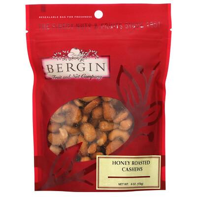 Купить Bergin Fruit and Nut Company Жареный кешью с медом, 170г (6унций)