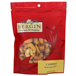 Bergin Fruit and Nut Company, Cashews Roasted, Salted, 6 oz (170 g)