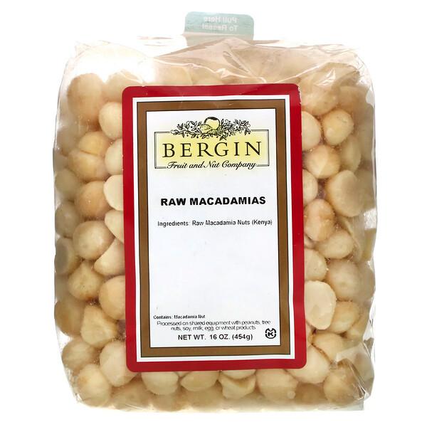 Raw Macadamias, 16 oz (454 g)