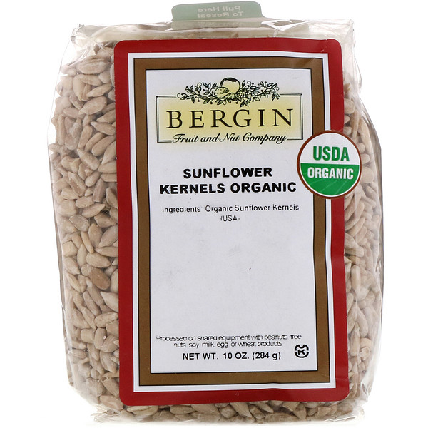 Bergin Fruit and Nut Company, Organic Sunflower Kernels, 10 oz (284 g)