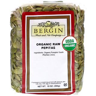 Bergin Fruit and Nut Company, Organic Raw Pepitas, 10 oz (284 g)