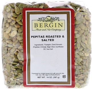 Bergin Fruit and Nut Company, Pepitas Roasted & Salted, 14 oz (397 g)