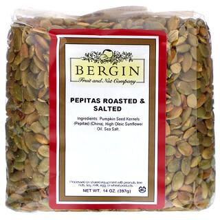 Bergin Fruit and Nut Company, обжаренные соленые тыквенные семечки, 397г (14унций)