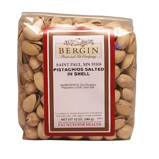 Bergin Fruit and Nut Company, Pistachios, Salted in Shell, 12 oz (340 g)