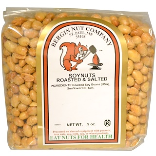 Bergin Fruit and Nut Company, Soynuts Roasted & Salted, 9 oz