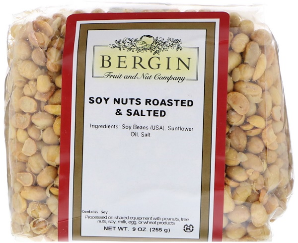 Bergin Fruit and Nut Company, 鹽烤大豆仁,9盎司