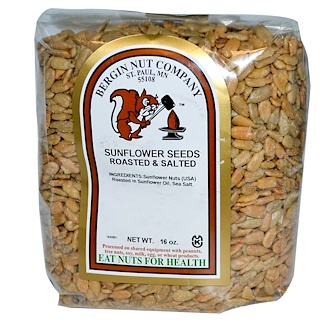 Bergin Fruit and Nut Company, Sunflower Nuts, Roasted & Salted, 16 oz (454 g)