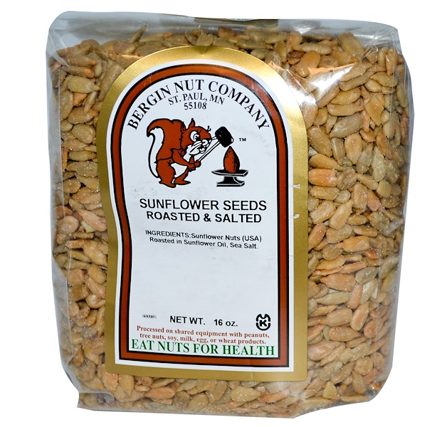 Bergin Fruit and Nut Company, Sunflower Nuts, Roasted & Salted, 16 oz (454 g) (Discontinued Item)
