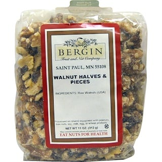 Bergin Fruit and Nut Company, WalnusshΣlften und -stⁿcke, 11 oz (312 g)