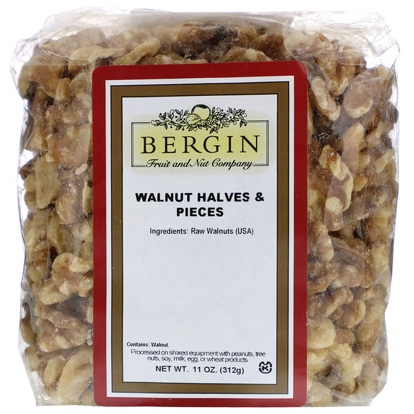 Bergin Fruit and Nut Company, Walnut Halves and Pieces, 11 oz (312 g)