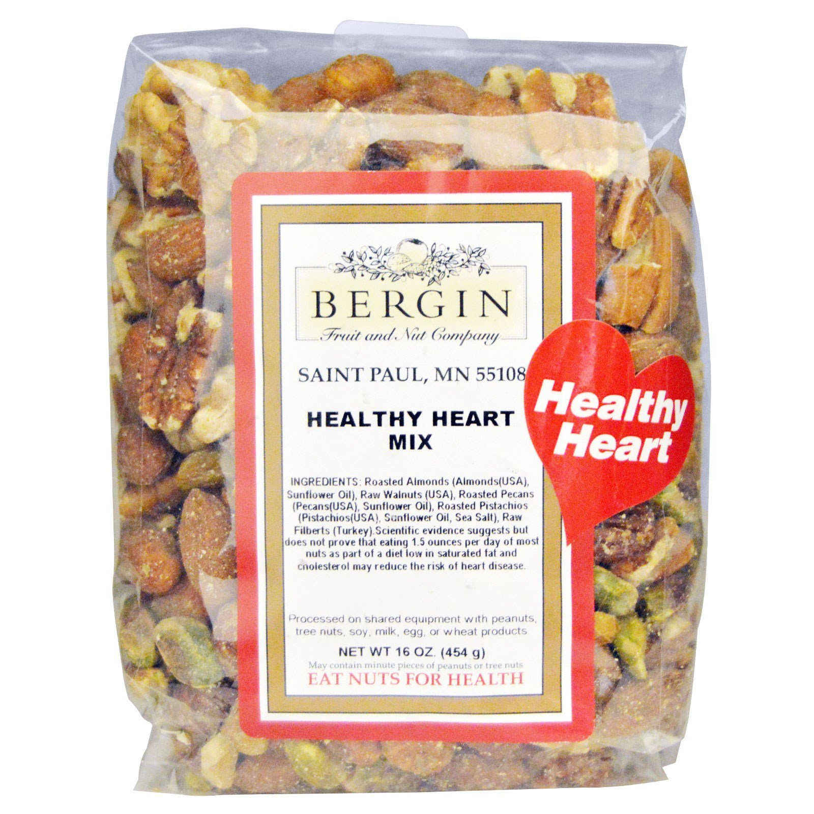 Bergin Fruit and Nut Company, Heart Healthy Mix, 16 oz (454 g)