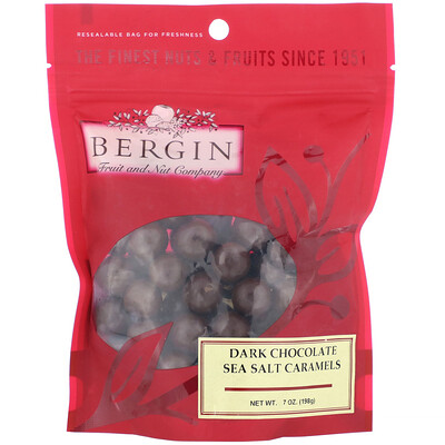 Купить Bergin Fruit and Nut Company Черный шоколад и карамель с морской солью, 198г (7унций)