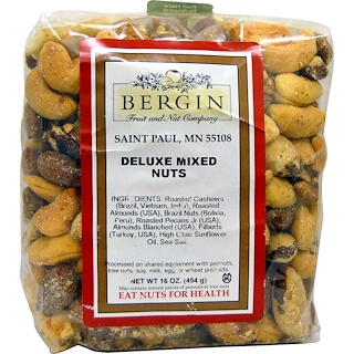 Bergin Fruit and Nut Company, Deluxe-Nussmischung, 16 oz (454 g)