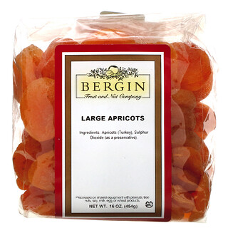 Bergin Fruit and Nut Company, Large Apricots, 16 oz (454 g)