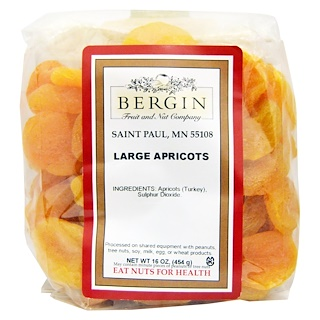 Bergin Fruit and Nut Company, Türkische Jumbo-Aprikosen, 16 oz (454 g)