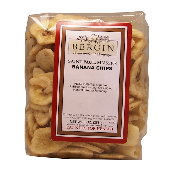 Bergin Fruit and Nut Company, Banana Chips, 9 oz (255 g)
