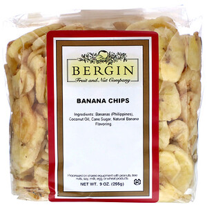 Бергин Фрут и Нат Кампани, Banana Chips, 9 oz (255 g) отзывы