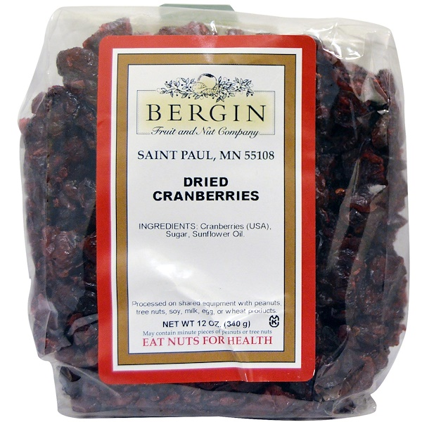 Bergin Fruit and Nut Company, ドライクランベリー、12 oz (340 g)