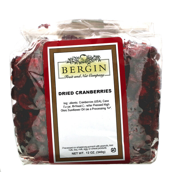 Bergin Fruit and Nut Company, Canneberges séchées, 340 g