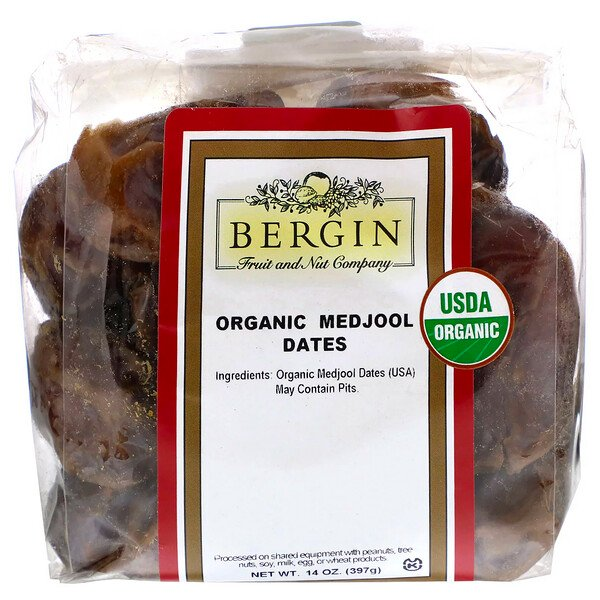 Bergin Fruit and Nut Company, Dátiles orgánicos Medjool, 14 oz (397 g)