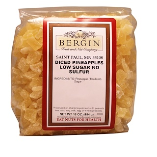Bergin Fruit and Nut Company, Diced Pineapple, 16 oz (454 g)