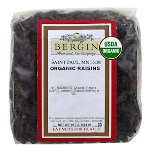 Бергин Фрут и Нат Кампани, Organic Raisins, 16 oz (454 g) отзывы