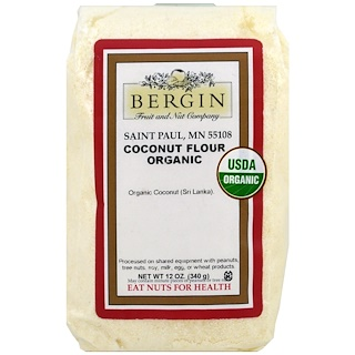 Bergin Fruit and Nut Company, Organic Coconut Flour, 12 oz (340 g)