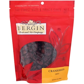 Bergin Fruit and Nut Company, Cranberries, Dried, 5 oz (142 g)