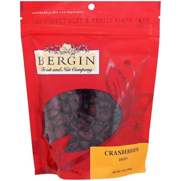 Bergin Fruit and Nut Company, Cranberries, Dried, 5 oz (142 g) (Discontinued Item)