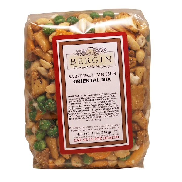 Bergin Fruit and Nut Company, Oriental Mix, 12 oz (340 g) (Discontinued Item)