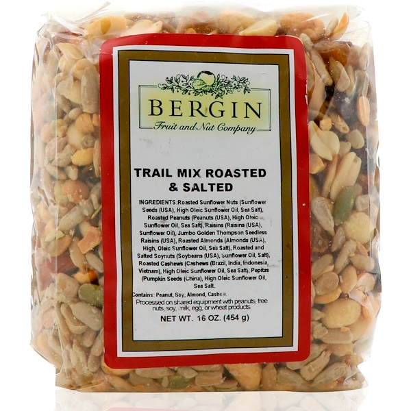 Bergin Fruit and Nut Company, Trail Mix Roasted & Salted, 16 oz (454 g) (Discontinued Item)