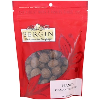 Bergin Fruit and Nut Company, Peanuts, Chocolate Double Dip, 7 oz (198 g)