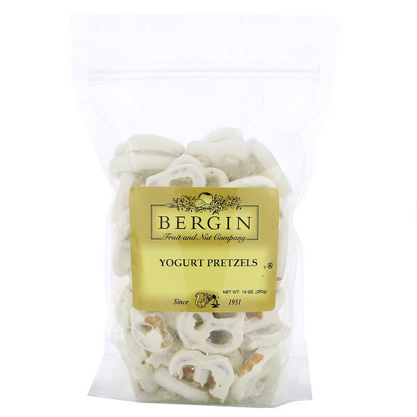 Bergin Fruit and Nut Company, Yogurt Pretzels, 10 oz (283 g)